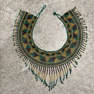 Chaquira handmade beaded necklace